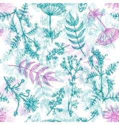 boho style flower vector image