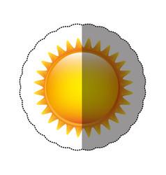 color sticker sun icon vector image vector image