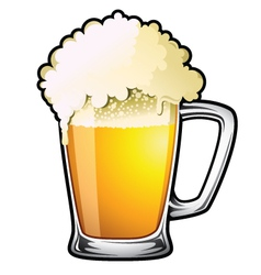 draught beer vector image vector image