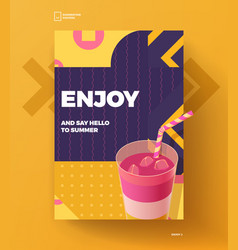 enjoy summer poster vector image