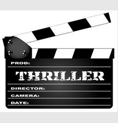 thriller clapperboard vector image vector image