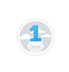 Top achievement winner medal success concept vector image vector image