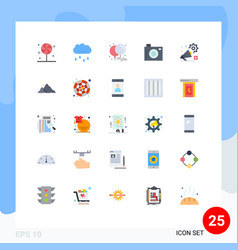 25 flat color concept for websites mobile and vector