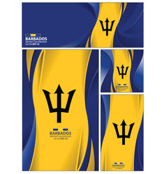 abstract barbados flag banner brochure background vector image