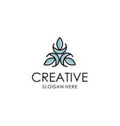 abstract flower logo design vector image