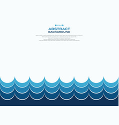 abstract of blue water wave pattern background vector image