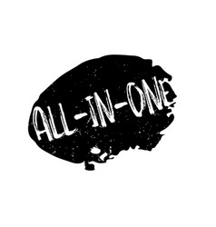all-in-one rubber stamp vector image