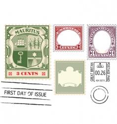 antique postage vector image