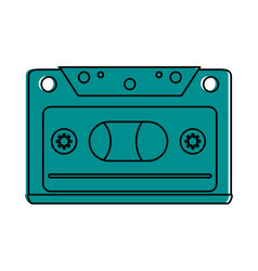 audio cassette icon image vector image