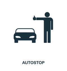 Autostop icon mobile app printing web site icon vector