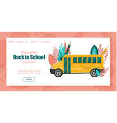 back to school bus poster autumn fall sale vector image
