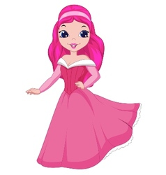 Beautiful princess cartoon vector image