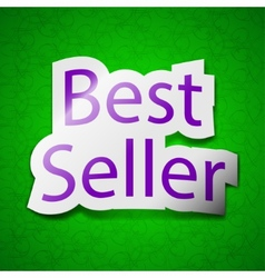 Best seller icon sign Symbol chic colored sticky vector