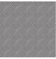 black and white rays seamless pattern vector image