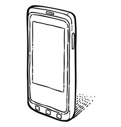cartoon image of smartphone icon cellphone vector image