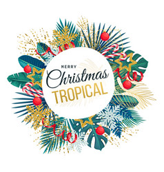 Christmas round banner vector