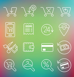 clean icons set for web design and application vector image