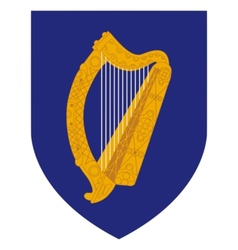 coat of arms of Ireland vector image