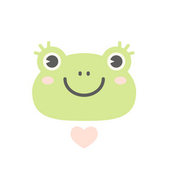 cute flat frog logo or icon vector image