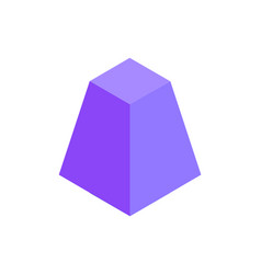 Cute lilac pyramid template colorful vector