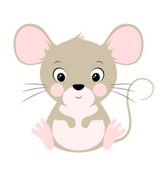 cute mouse isolated on white vector image