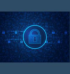 cyber lock vector image