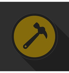 Dark gray and yellow icon - claw hammer vector