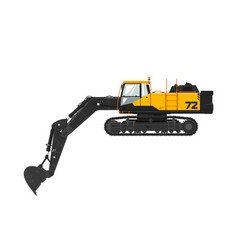 Digger isolated on white background vector