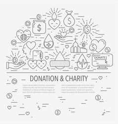 Donation banner template vector