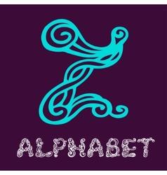 Doodle hand drawn sketch alphabet Letter Z vector