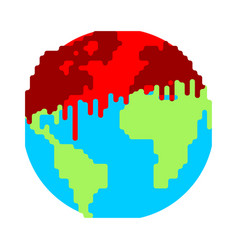 dripping blood on earth war on planet end world vector image