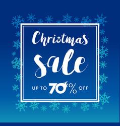 elegant merry christmas lettering sale vector image