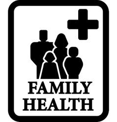 Family health sign vector