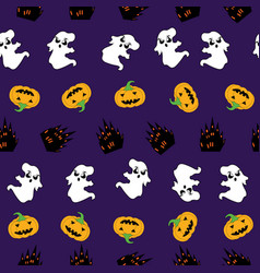 Fun halloween seamless pattern background with vector