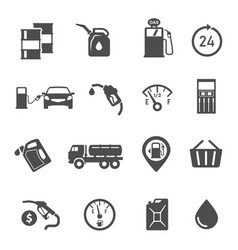gasoline station items refueling equipment glyph vector image