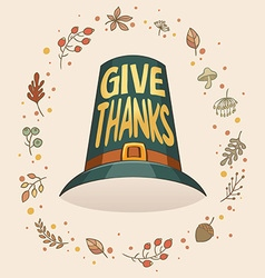 givethanks hat vector image