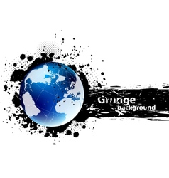 Grunge banner with earth vector image