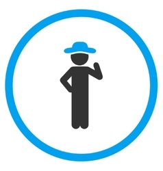 Guy Proposal Circled Icon vector image