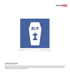 halloween grave pictogram icon - blue photo frame vector image