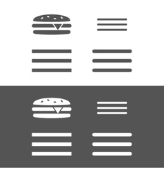 Hamburger menu UI icon vector