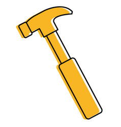 hammer construction isolated icon vector image