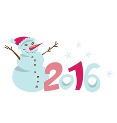 happy new 2016 year template vector image