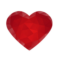 Heart with triangles vector