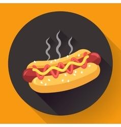 Hot-dog flat design style vector