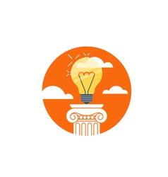 Idea light bulb creativity award concept vector