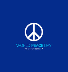 international day peace vector image
