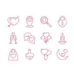Isolated love icon set design vector