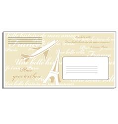Letter to Paris vector