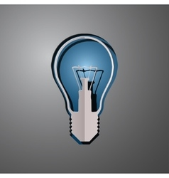 lightbulb cut paper vector image