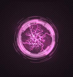 lighting circle purple ball energy plasma vector image